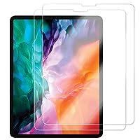 G-LUCK iPad pro 12.9 ガラスフィルム iPad 12.9 (2018/2020) 強化フィルム 液晶保護フィルム高透過率 耐指紋 撥油性 表面硬度9H iPad 12.9インチ 2020年モデル用 保護フィルム 高度透明 気泡防止 自動吸着 飛散防止処理