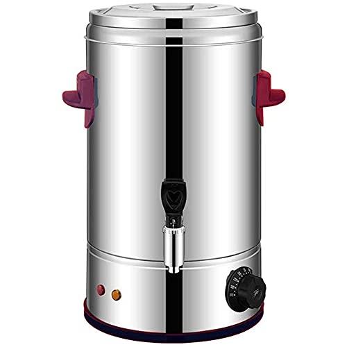 MNSSRN Cubo de Agua eléctrica de Acero Inoxidable, Cubo de té de Leche eléctrica, Cubo de conservación de Calor Comercial, Cubo de calefacción de té, Cubo Abierto,8L