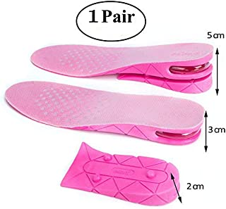 Air up Height Increase Elevator Shoes Insole Lift Kit - 5 cm (approximately1.9 inches) Heels Inserts for Men Women