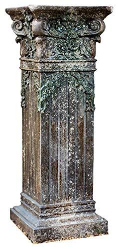 Escultura de escritorio Escultura de la columna romana, stand de la planta...