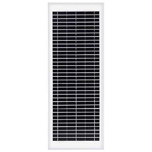 Tidyard Solarmodul Solarpanel 10/30Watt Polykristallin Aluminium und Sicherheitsglas,Solarzelle Camping Garten Maximale Systemspannung: DC 715 V für Wohnmobil, Gartenhäuse, Boot