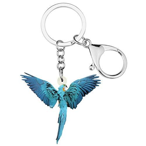 Portachiavi Pappagallo Ara volante Portachiavi Portachiavi Uccello Animale Portachiavi Per donne Ragazze Kid Charm Gift Bag Accessorio