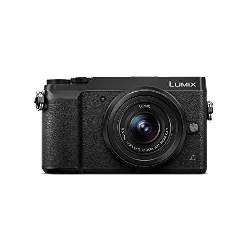 Panasonic Lumix GX80K | Appareil Photo Hybride Compact + Objectif Lumix 12-32mm (Capteur 4/3 16MP, Double stabilisation, Viseur, Écran inclin. tact., AF DFD, Vidéo 4K) Noir – Version Française