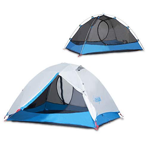 2重層式 テント フライシート付き 1-2人用 キャンプテント 2人用 ツーリングテント ドーム テント キャンプ テント 二重層 防水 軽量 メッシュスクリーン付 通気性抜群 アウトドア用品 海 花見 運動会 登山 収納袋付属 tent3001