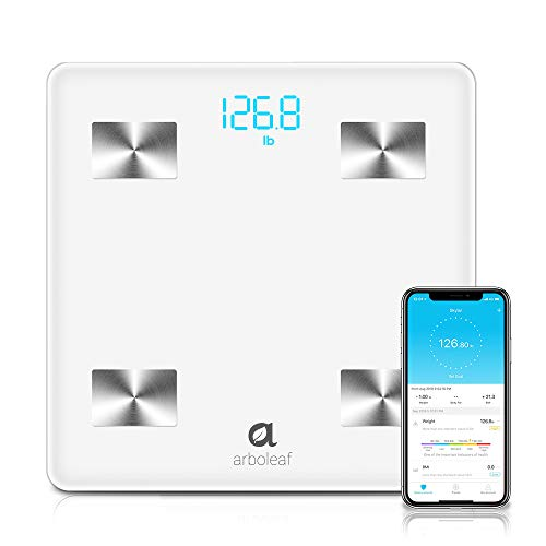 Bluetooth Body Fat Scale - Smart Scale Wireless Bathroom Weight Scale