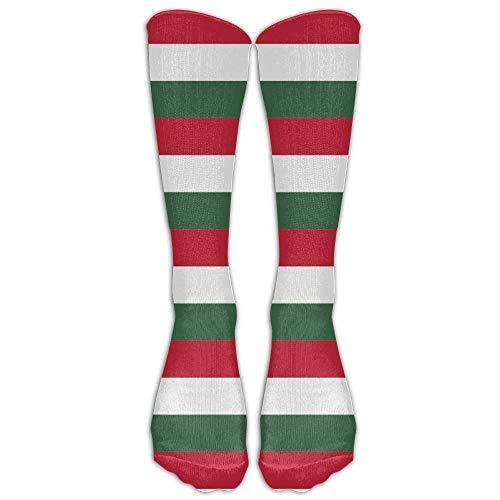 winterwang Bandera de Hungra Calcetines de compresin Calcetines de pantorrilla cmodos, transpirables y elegantes Calcetines largos atlticos