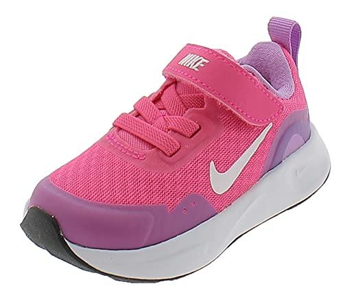 Nike Wearallday (TD), Scarpe da Ginnastica Unisex-Bambini, Hyper Pink White Fuchsia Glow, 18.5 EU