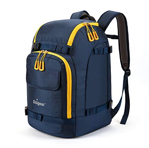 Unigear スノーボード バックパック スキー ブーツバッグ 大型 スキーヘルメット バッグ 大容量 55L 3色 (ブルー)