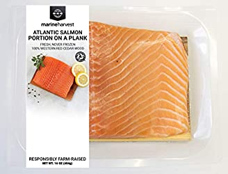 Marine Harvest Fresh Atlantic Salmon On Cedar Plank, 1 Lb