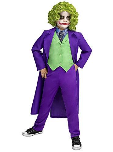 Funidelia | Disfraz de Joker Oficial para niño Talla 10-12 años ▶ Superhéroes, DC Comics, Villanos - Color: Morado - Licencia: 100% Oficial - Divertidos Disfraces y complementos