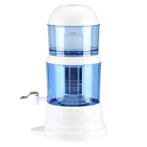 16L Trinkwasserfilter, gefilterter Wasserspender mit abnehmbarer Kartusche Schwerkraft Wasserfilter zur Beseitigung von Ablagerungen Einstellen des pH-Werts