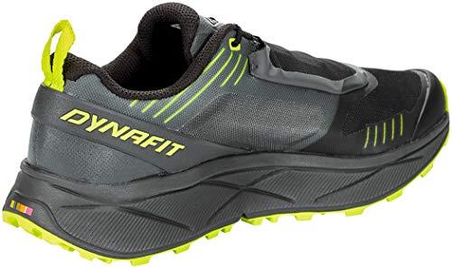 Dynafit Ultra 100 GTX, Zapatillas de Running Hombre, Carbon/Neon Yellow, 47 EU