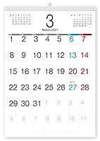 ボーナス付 2021年3月~(2022年3月付)月曜はじまり タテ長ビジネス壁掛けカレンダー A3サイズ[B]