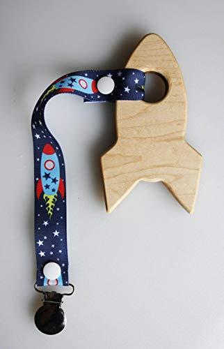 Sale!! NA Rocket Ship Teether | Wooden Teether | Rocket Teether | Wooden Rocket Ship Teether | Space...