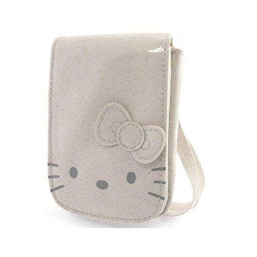 Hello kitty by camomilla - Poche Portable / mp3 - Glitter Funny Face - Ecru