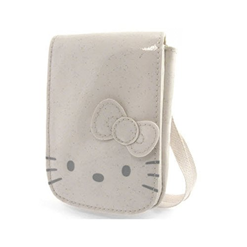 Hello kitty by camomilla - Poche Portable / mp3 - Glitter Funny Face - Ecru