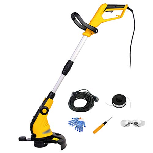 Buy Bargain QINXUESHOP Electric Grass Trimmer Adjustable Handle Telescopic Cutting Width 30cm Profes...