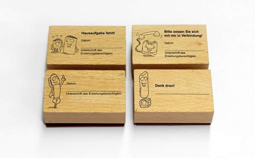 Das Grundschul-Kontaktstempel-Set: Elternkontakt kinderleicht - mit 4 ansprechenden Stempeln (1. bis 4. Klasse)