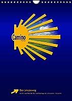 Jakobsweg - Camino Francés (Wandkalender 2022 DIN A4 hoch): Der populaere Jakobsweg von St. Jean-Pied-de-Port nach Santiago de Compostela (Monatskalender, 14 Seiten )