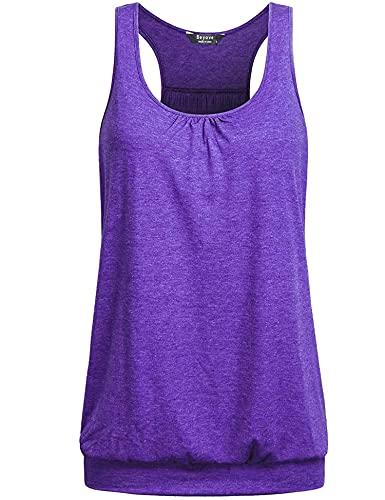 UNibelle Camisetas sin Mangas de Fitness Deportiva de Tirantes para Mujer Yoga Pilates Running S-XXL