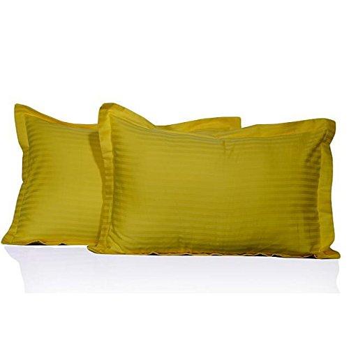 We Search You Save Lot de 650 fils en coton égyptien (650TC taies d'oreiller 100% coton Motif à rayures Jaune