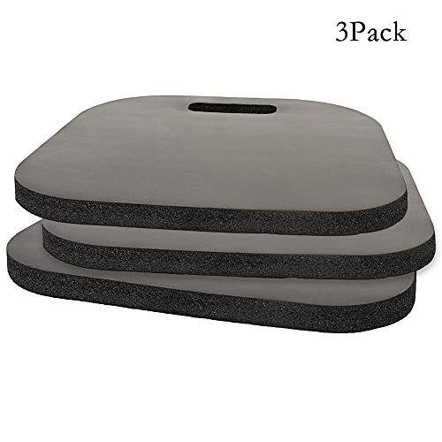 Skyoo Pack de 3 Almohadillas de Espuma con Efecto Memoria para Asiento de Coche, con asa de Transporte para Barco, estadios, sillas, sillas, Asiento