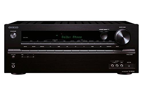 Onkyo TX-NR545 (B) Netzwerk AV-Receiver (7.2-Kanal, 120 Watt, Dolby Atmos, 4K Ultra HD, HDCP 2.2, 6X HDMI, Bluetooth, WiFi, Audiostreaming, 384 kHz, 32 Bits) schwarz