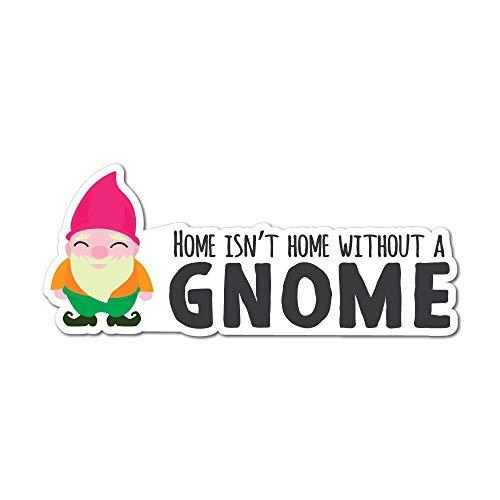 Wheelie Bin stickers Gnome Design  waterproof 1 gnome sticker sheet