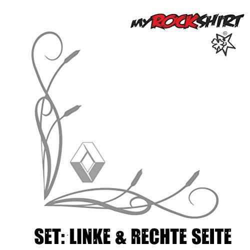 Renault Logo Seitenscheibe Scheibe 27x27cm LKW Truck Trucker Aufkleber Anhänger Sticker `+ Bonus Testaufkleber Estrellina-Glückstern ®, gedruckte Montageanleitung von myrockshir