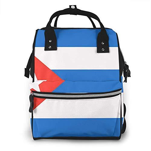 nbvncvbnbv Bolsa de pañales con bandera cubana Multifunción Impermeable Mochila de viaje para mamá Bolsas de pañales para el cuidado del bebé Gran capacidad Elegante y duradera