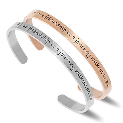 A True Friendship is a Journey Without an End (2 pack bracelet)