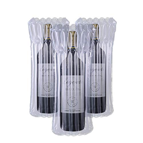 Wine Bottle Protectors Bag for Travel 500 Pack Reusable Bubble Cushion Wrap Sleeves for Luggage Airplane Travel Transport Inflatable Air Filled Packaging Bags Air Pump Not Include