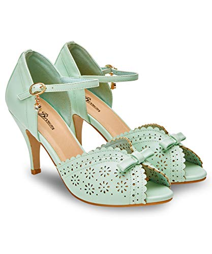 Joe Browns Damen Dream Girl Shoes Peeptoe Pumps, Grün (Mint A), 39 EU
