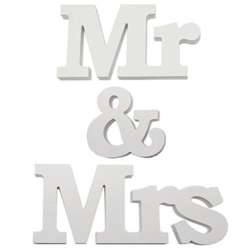 La décoration de table Mr & Mrs