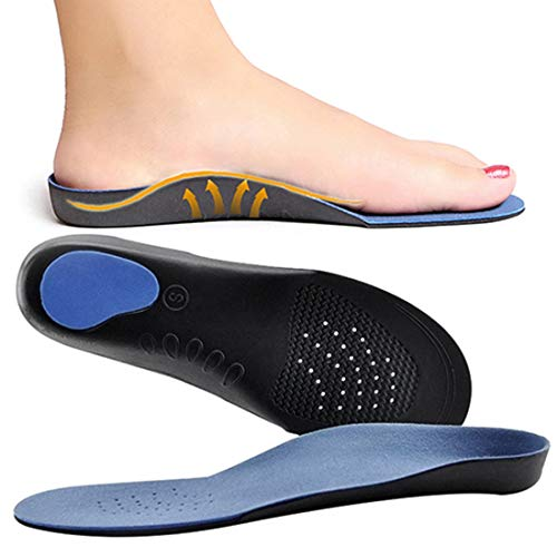 AlexVyan Comfortable and Adjustable Flat Feet Arch Support Orthopedic pain relief Shoe Insoles For Men and Women For Sports Jogging Regular Use