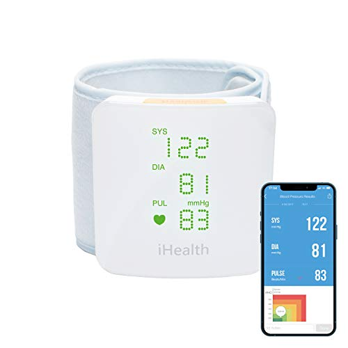 iHealth Wireless blood Pressure Wrist Monitor - Tensiómetro, blanco (BP7S)