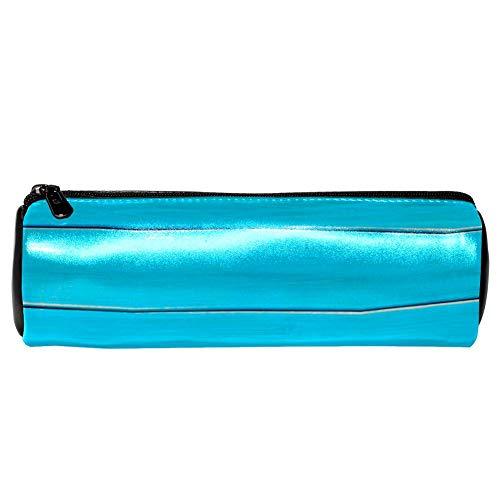 EZIOLY Sommer-Sonnenbrille, Holz-Leder, Federmäppchen, Münztasche, Kosmetiktasche, Make-up-Tasche für Schule, Arbeit, Büro