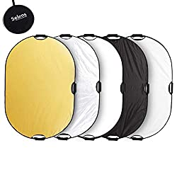 Selens 5-in-1 80x120cm Oval Reflector Portable Foldable for Photography Photo Studio Lighting and Outdoor Lighting