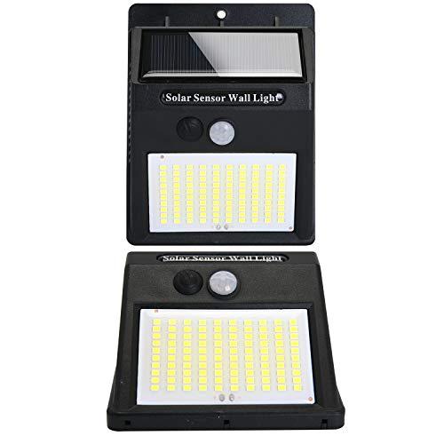Solarleuchte für Außen Garten, 100 LED Solarlampe Außen mit Bewegungsmelder 120° Solarleuchte Superhelle Sicherheitswandleuchte 3 Modi [2000mAh] Wasserdichte Wandleuchte