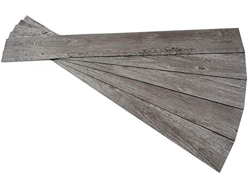 ROSEROSA Peel and Stick Engineered PVC Plank Wood Pattern Durable Vinyl Flooring (ECK-803 : 5 Planks)