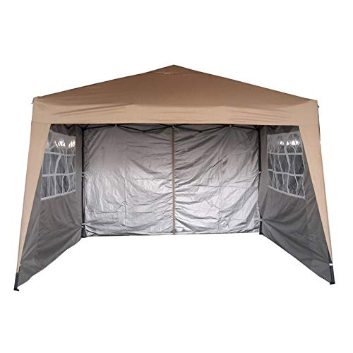 MCC@home 3x3m Waterproof Pop-up Gazebo with Silver Protective Layer Marquee Canopy WS (Beige)