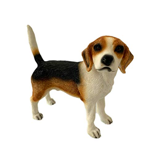 Darthome Ltd Lifelike Standing Beagle Dog Pet Indoor Ornament Statue Figurine Resin Gift Art 13cm