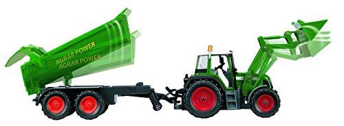 RC Auto kaufen Traktor Bild 3: Dickie Toys 201119266 - RC Farmer Set, funkferngesteuerter Traktor mit Anhänger inklusive Batterien, 60 cm*