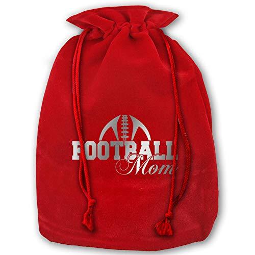 Hangdachang Tasche mit Kordelzug, Fußball-Mam-Weihnachtsmotiv, für Fitness, Gewichtheben, Weihnachten, Geschenkbeutel, für Geburtstagsparty