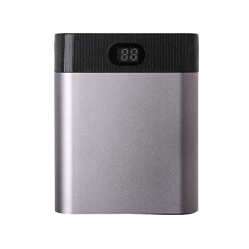5V Dual USB 4X 18650 Power Bank Case Kit Battery Charger Box For Smart Phones, Multicolor, 7895mm (Gray)