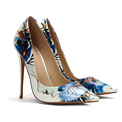 DEAR-JY Zapatos de Tacón para Mujer,Zapatos de Corte Puntiagudos de 12 cm...