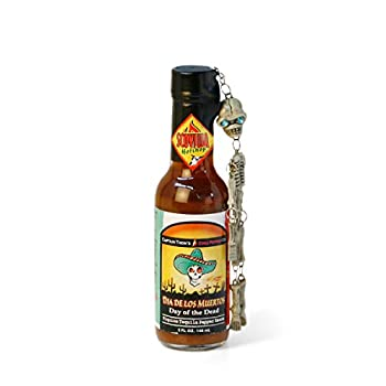 Day of The Dead Hot Sauce with Full Skeleton Key Chain - 5oz