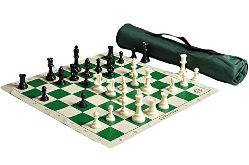 US Chess Quiver Triple Weighted Tournament Chess Set Combination