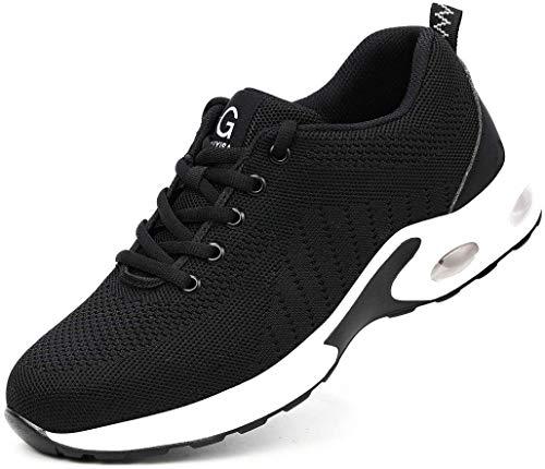 SQL Zapatillas de Deporte Zapatos de Seguridad de Fitness Zapatos de Trekking Carretera Que Calzado de Zapatos Deportivos Zapatos Aire Hombres Mujeres Que se Ejecutan,Blanco,39