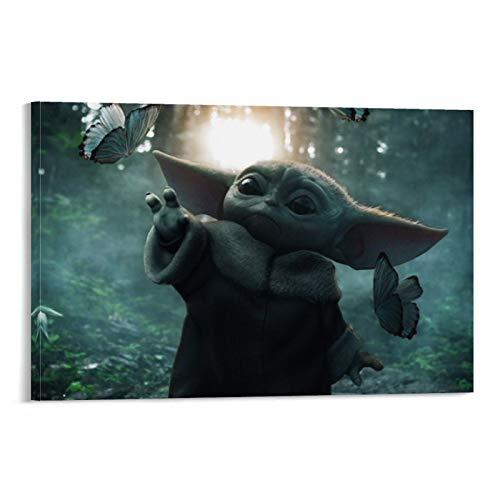 SSKJTC Pinturas sobre lienzo mejor imagen de bebé Yoda I ve Found Yet! (+post de R_fanart) Impresión artística para decoración de pared de baño 40 x 60 cm